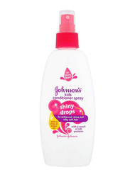 Johnson's Baby 200ml Shiny Drops Kids Conditioner Spray for Enhanced Shine and Silky Soft Hair