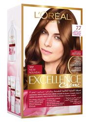 L'Oreal Paris Excellence Creme Hair Color, 7.7 Honey Brown, 100gm