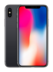Apple iPhone X Space Gray 64GB, With Facetime, 3GB RAM, 4G LTE, Single SIM Smartphone