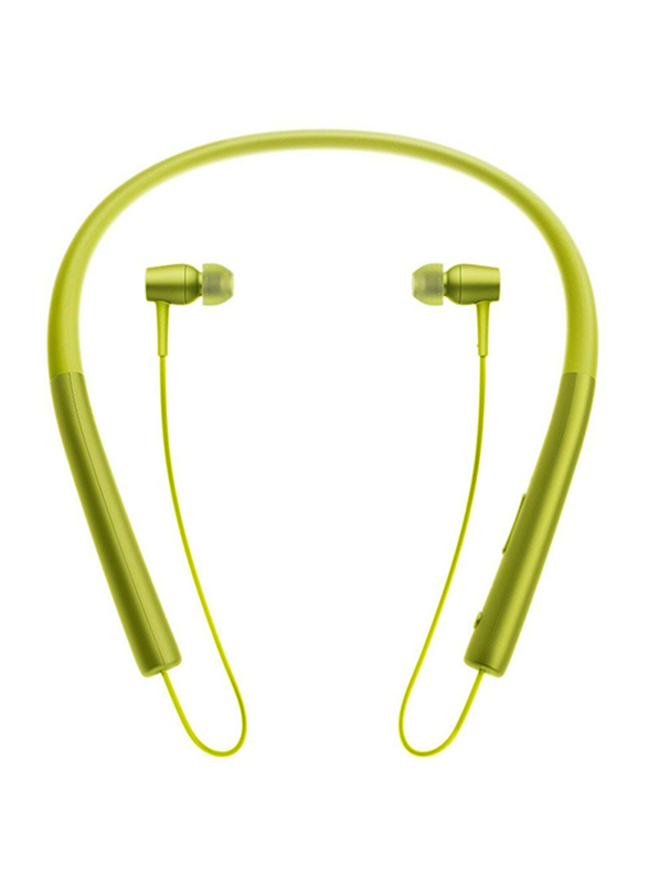 Sony H.ear In Wireless Neckband Stereo Headphones with Mic, MDR-EX750BT/Y, Lime Yellow