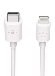 Belkin 1.2-Meter Boost Charge Lightning Cable, USB Type C Male to Lightning for iOS Devices, White