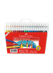 Faber-Castell 20-Piece Fiber Tip Color Sketch Pen Set, Multicolor
