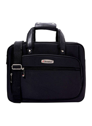 Senator 12-inch Executive Portfolio and Laptop Messenger Bag, KH8121, Black