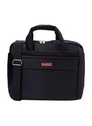 Senator 12-inch Executive Portfolio and Laptop Messenger Bag, KH8115, Black