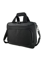 Eminent 17-inch Executive Office Laptop Messenger Bag with Solid Shoulder Strap, S0360-17, Black