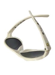 Dumasafe Shadez Design Aviator Full Rim Sunglasses for Kids, Grey Lens, Large, Beige