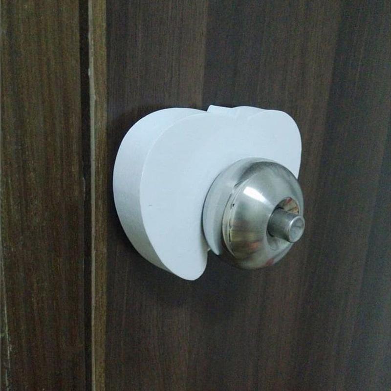 Dumasafe Door Finger Pinch Guard, 2 Pieces, White