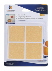 Dumasafe Anti-slip Floor Sticker, 8 Pieces, Brown