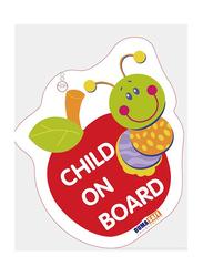 Dumasafe Child on Board Sticker, Red/Green