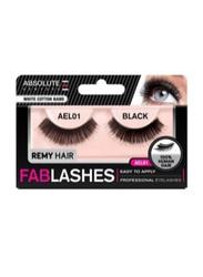 Absolute New York Fabulashes Regular Human Hair False Eyelashes, AEL01, Black