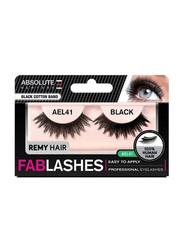 Absolute New York Fabulashes Underlash Human Hair False Eyelashes, AEL41, Black