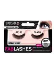 Absolute New York Fabulashes Regular Human Hair False Eyelashes, AEL31, Black
