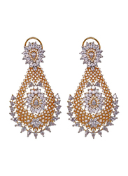 Glam Jewels The Droplets Dangle Earrings for Women, Gold
