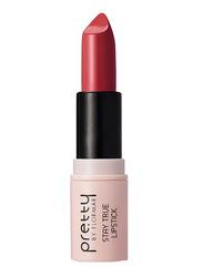 Pretty By Flormar Stay True Lipstick, 4gm, 006 Dark Bordeaux, Red