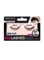 Absolute New York Fabulashes Regular Human Hair False Eyelashes, AEL17, Black