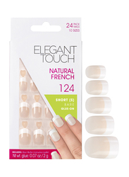 Elegant Touch Natural French American Bare Small 124-Pieces Nails Tips, Clear