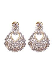 Glam Jewels Diva's Dream Dangle Earrings for Women, Gold