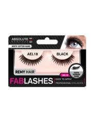 Absolute New York Fabulashes Regular Human Hair False Eyelashes, AEL18, Black