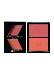 Absolute New York Chic Cheek Duo Blush, 8gm, Pure Pink/Papaya Matte, Pink/Orange