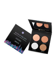 Absolute New York Glow In The City Highlighter Palette, 20gm, MFGH02 Big Apple Cheeks, Multicolour