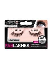 Absolute New York Fabulashes Regular Human Hair False Eyelashes, AEL20, Black