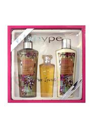 Hype 3-Pieces Gift Set for Women, 236ml Body Mist, 50ml EDT, 236ml Body Lotion