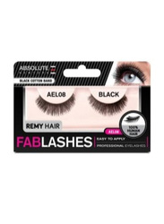 Absolute New York Fabulashes Regular Human Hair False Eyelashes, AEL08, Black