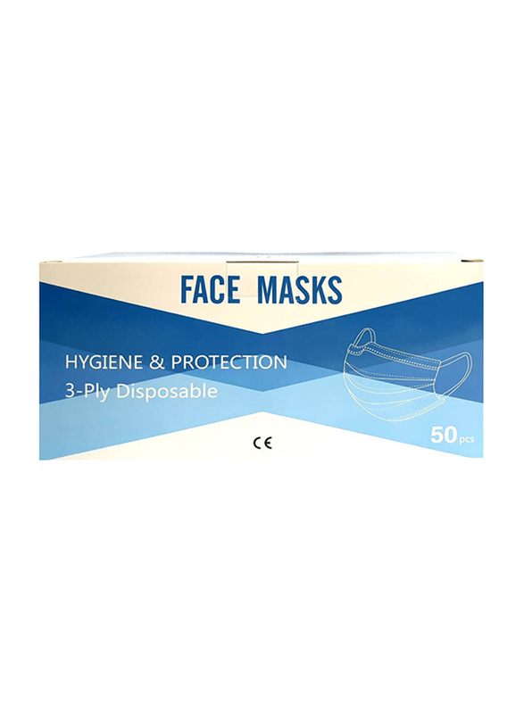 Eco Fresh 3 Ply Disposable Face Mask, 50-Pieces