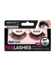 Absolute New York Fabulashes Regular Human Hair False Eyelashes, AEL03, Black