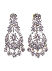 Glam Jewels The Chandelier Dangle Earrings for Women, Silver