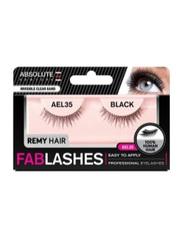 Absolute New York Fabulashes Regular Human Hair False Eyelashes, AEL35, Black