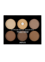 Absolute New York Highlight & Contour Palette, 14gm, 02 Tan to Deep, Multicolor