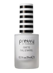 Pretty By Flormar Matte Nail Enamel, 9ml, 001 White