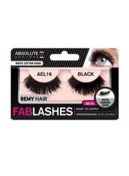 Absolute New York Fabulashes Regular Human Hair False Eyelashes, AEL16, Black