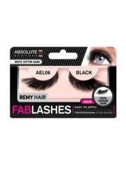 Absolute New York Fabulashes Regular Human Hair False Eyelashes, AEL06, Black
