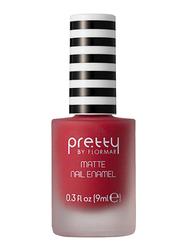 Pretty By Flormar Matte Nail Enamel, 9ml, 003 Red