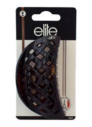 Elite Large Fashion Claw Hair Clip 5303, Brown