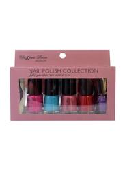 Chrixtina Rocca 5-Pieces Nail Polish Collection, Multicolor