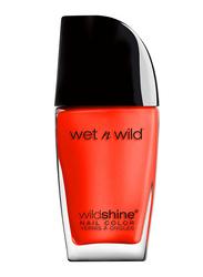 Wet N Wild Shine Nail Color, 12.3ml, E490 Heatwave, Orange