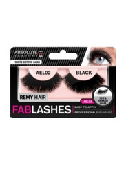 Absolute New York Fabulashes Regular Human Hair False Eyelashes, AEL02, Black