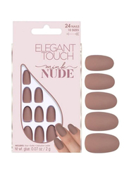 Elegant Touch Nude Collection Nail Tips, Mink, Brown