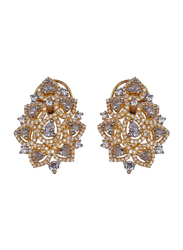 Glam Jewels The Jasmine Studs Earrings for Women, Gold