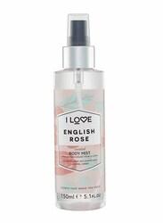 I Love English Rose 150ml Body Mist Unisex