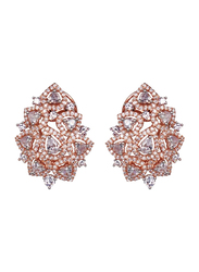 Glam Jewels The Jasmine Studs Earrings for Women, Rose Gold