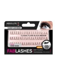 Absolute New York Fabulashes Classic Flare Black Medium False Eyelashes, Black