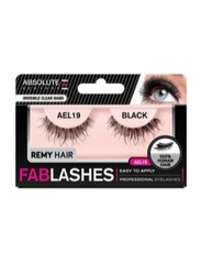 Absolute New York Fabulashes Regular Human Hair False Eyelashes, AEL19, Black