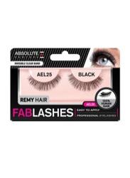 Absolute New York Fabulashes Regular Human Hair False Eyelashes, AEL25, Black