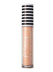 Pretty By Flormar Cover Up Liquid Concealer, 6ml, 001 Light Ivory, Beige