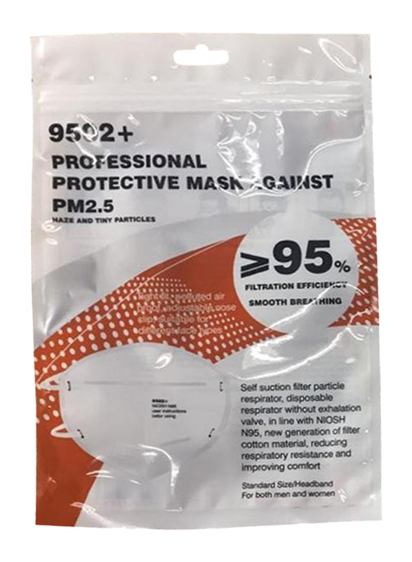 Multiplex Model 9502+ Professional Protective N95 Mask, 2-Pieces