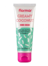 Flormar Bath & Body Collection Hand Cream, 02 Creamy Coconut, 75ml